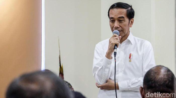 Foto: Presiden Jokowi bertemu tokoh Papua di Wamena, Kabupaten Jayawijaya, Papua. (Andhika-detikcom)