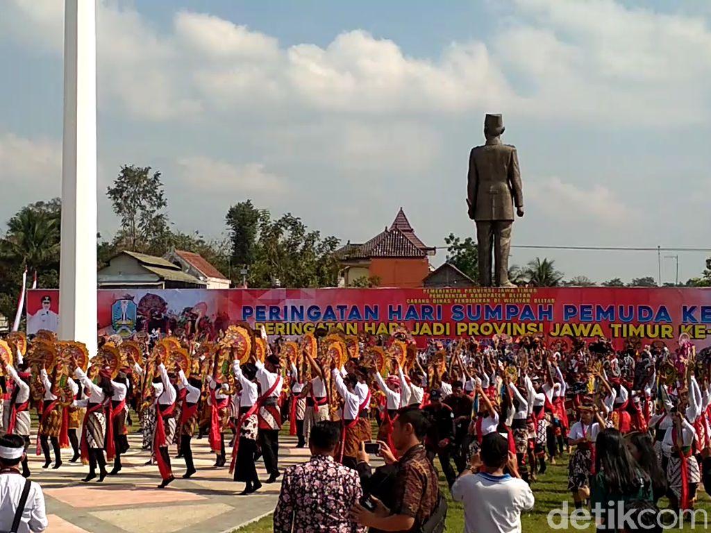 2.019 Penari Jaranan Tril Meriahkan Peringatan Sumpah Pemuda di Blitar