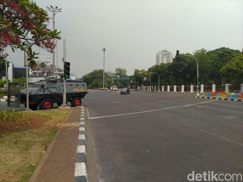 Jelang Demo Mahasiswa, Lalin di Sekitar Istana Ditutup