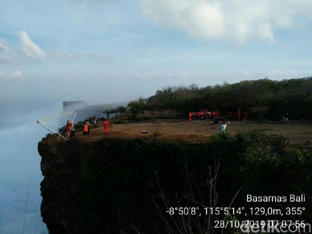 WNA Tewas Terjatuh dari Tebing di Pecatu Bali Saat Selfie