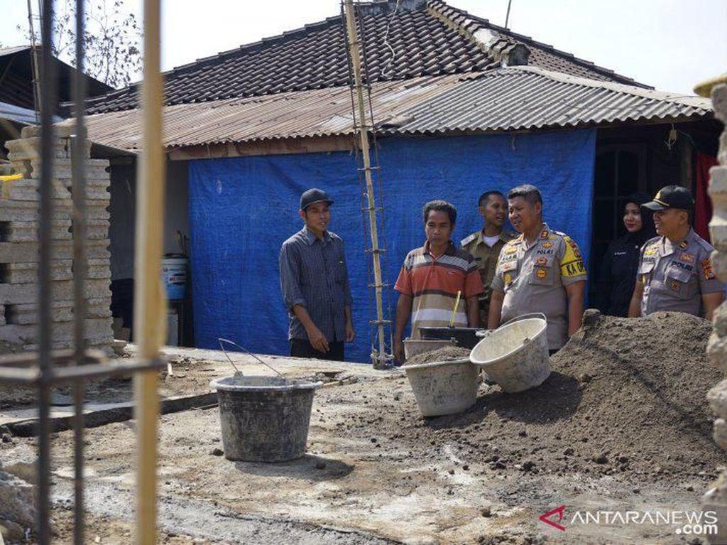 Dana Bantuan Rehab Rumah Terdampak Gempa NTB Digelapkan, Kapolres Cek Lokasi