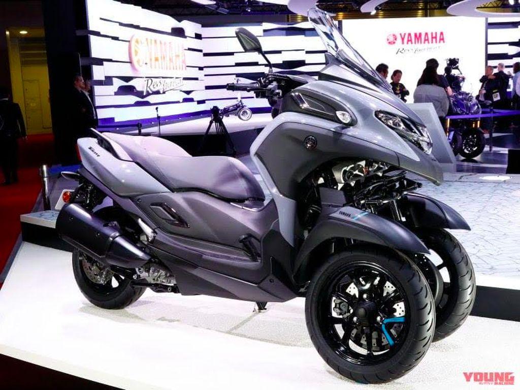 Skuter Roda Tiga Yamaha Bermesin XMAX Siap Meluncur di EICMA 2019