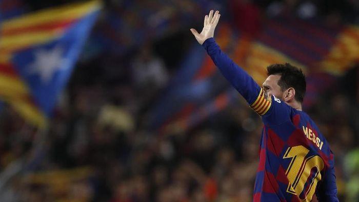 Striker Barcelona Lionel Messi mulai dispekulasikan hengkang. (Foto: AP Photo/Joan Monfort)