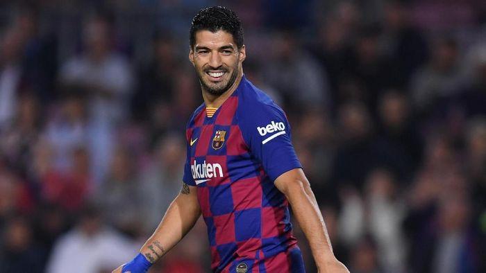 Striker Barcelona Luis Suarez. (Foto: Alex Caparros/Getty Images)