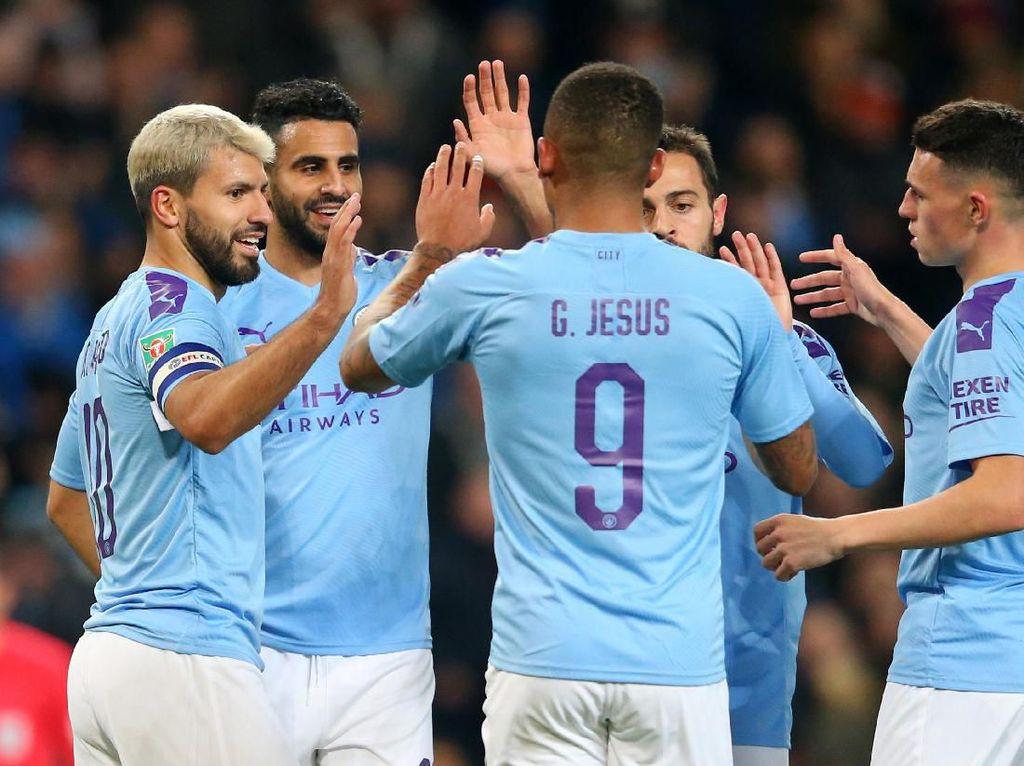 Piala Liga Inggris: Man City ke Perempatfinal Usai Tekuk Southampton 3-1