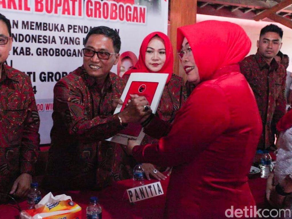 Bupati Petahana Grobogan Daftar Lagi di Pilkada Lewat PDIP