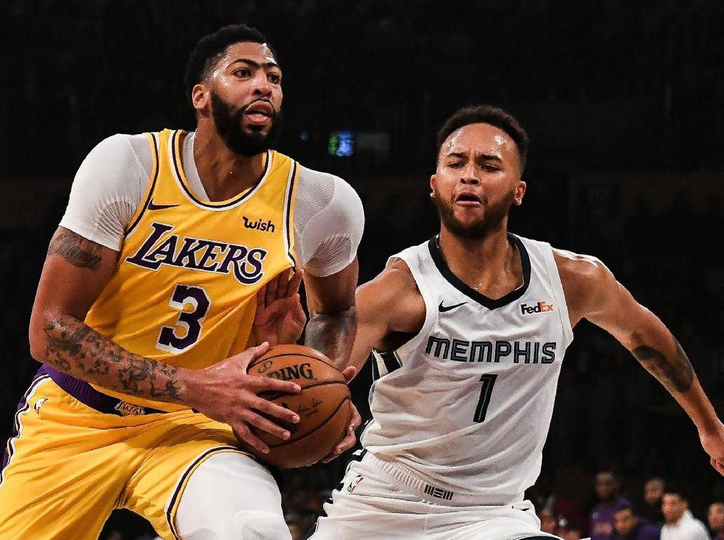 Hasil NBA: Anthony Davis 40 Poin, Lakers Tundukkan Grizzlies