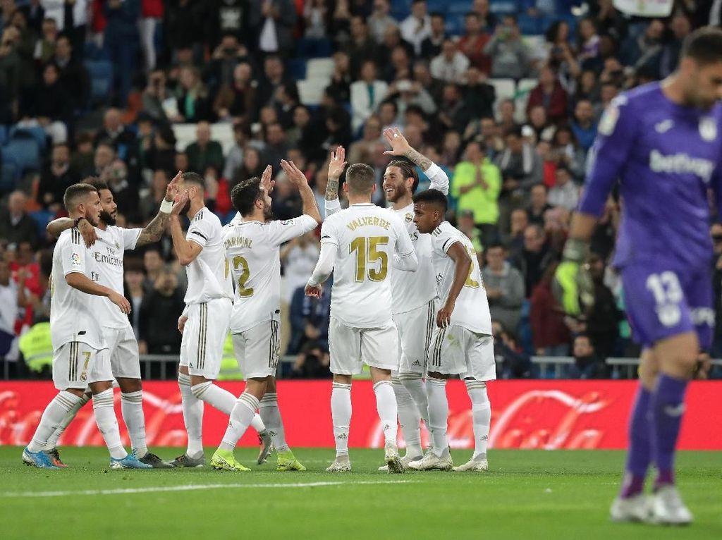 Hasil Liga Spanyol: Gasak Leganes 5-0, Real Madrid Pepet Barcelona