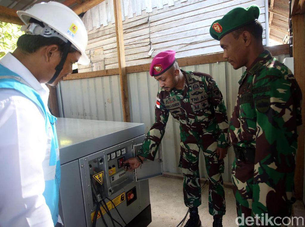 Ini PLTD yang Terangi Pos Sekatung TNI di Pulau Terluar RI