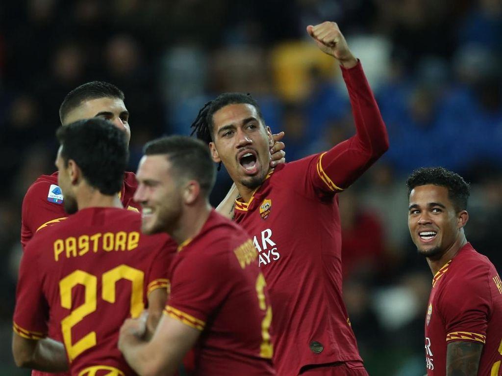 Hasil Liga Italia: 10 Pemain Roma Benamkan Udinese 4-0