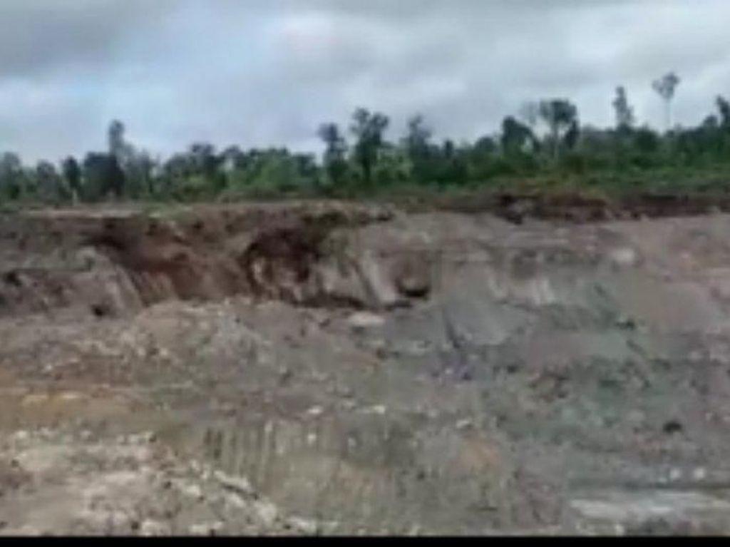 Video Detik-detik Longsor Mirip Likuefaksi di Kalimantan Utara