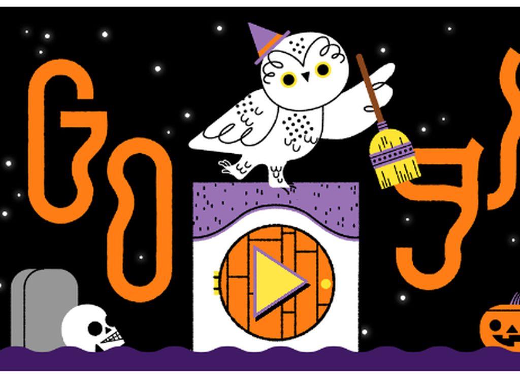 Google Doodle Edisi Halloween, Klik Pintunya Kalau Berani