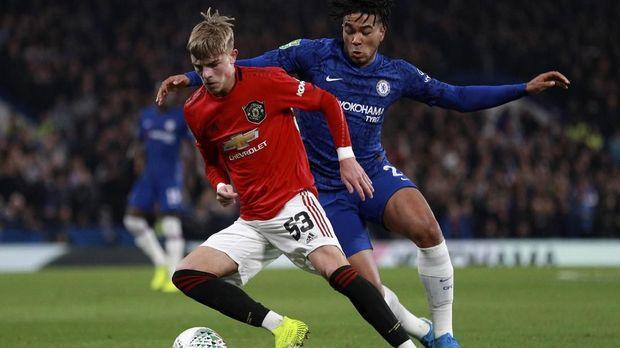 Laga Chelsea vs MU di Liga Inggris. (