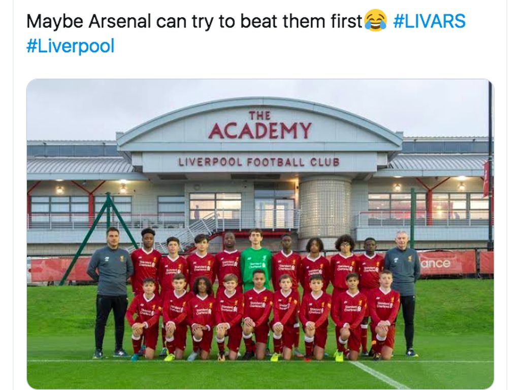 Netizen Heran Arsenal Dikalahkan Para Bocah Liverpool