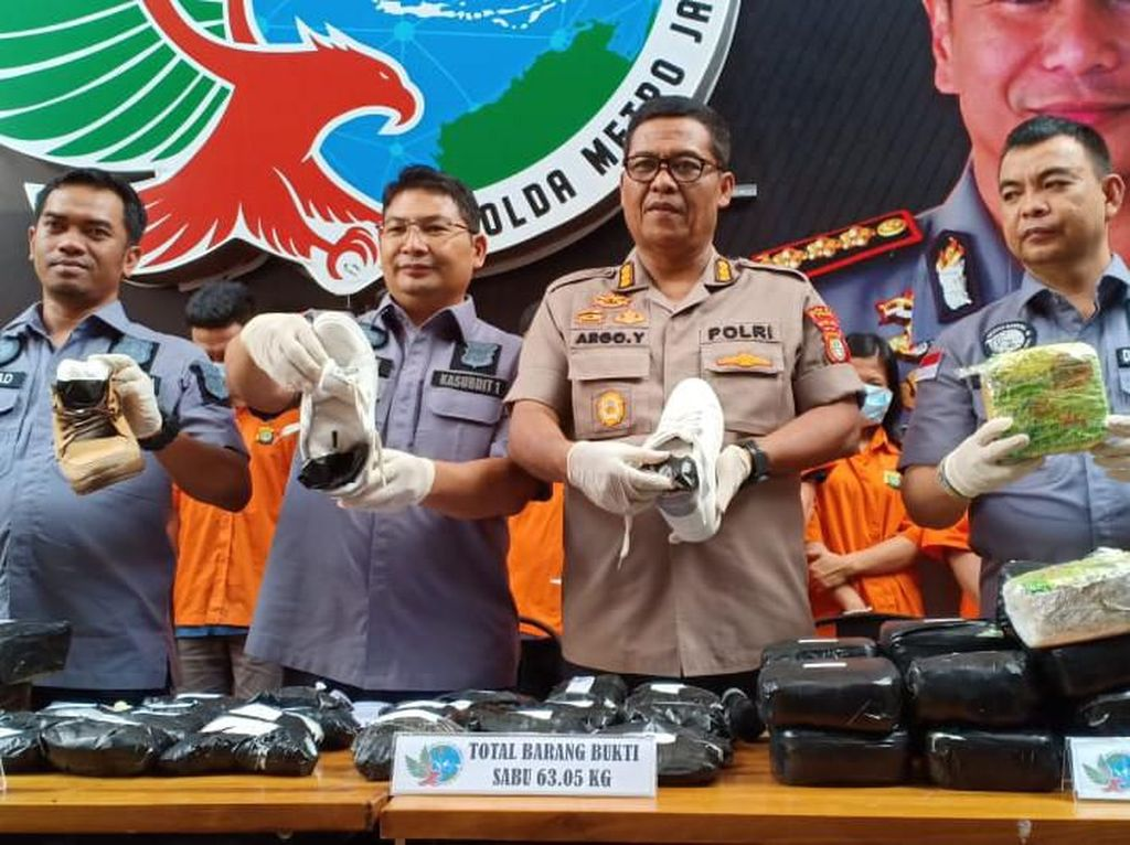 Sita 68 Kg Sabu, Polisi Tangkap Pengedar Jaringan Batam-Lampung-Jakarta
