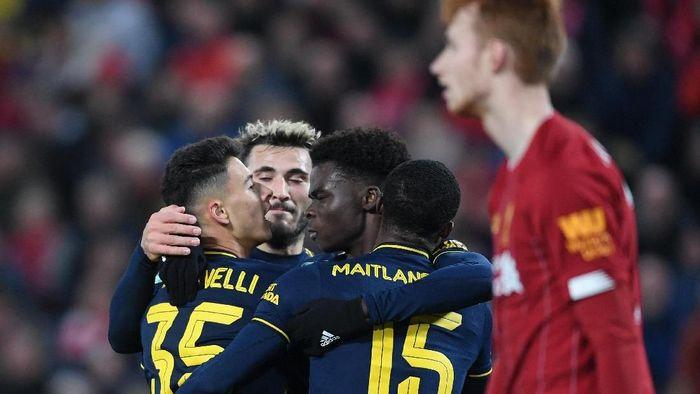 Arsenal tersingkir di babak keempat Piala Liga Inggris. (Foto: Laurence Griffiths/Getty Images)