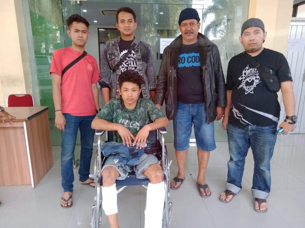 Polisi Tembak Buronan Kasus Pembunuhan dan Begal di Makassar