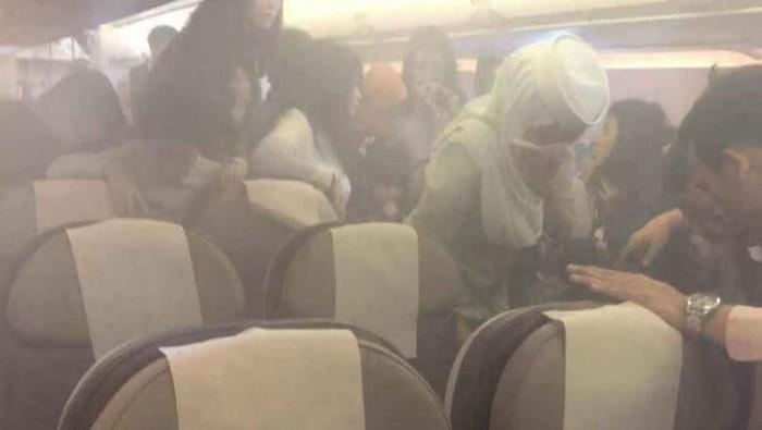 Powerbank meledak di pesawat. Foto: Facebook/Francis Ngu Hown Hua