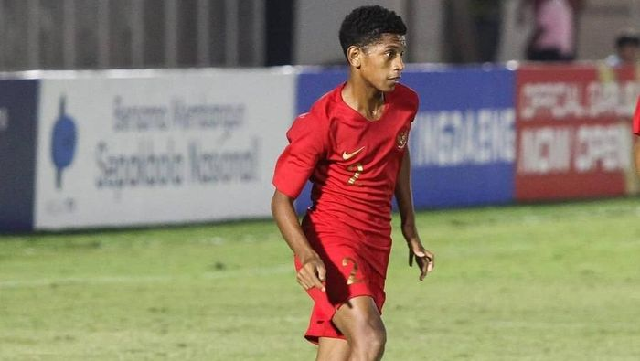 Bek Timnas Indonesia U-16 Alfin Lestaluhu. (Foto: Instagram @bimasakti230176)