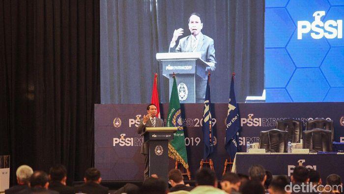 Menpora Zainudin Amali di Kongres PSSI (Rifkianto Nugroho/detikSport)