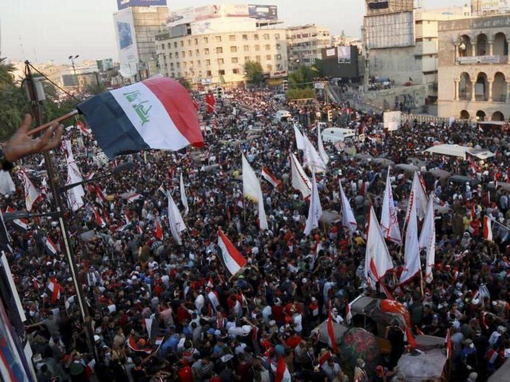 Demo Ricuh di Irak Kembali Telan Korban: 4 Pendemo dan 1 Aparat Tewas