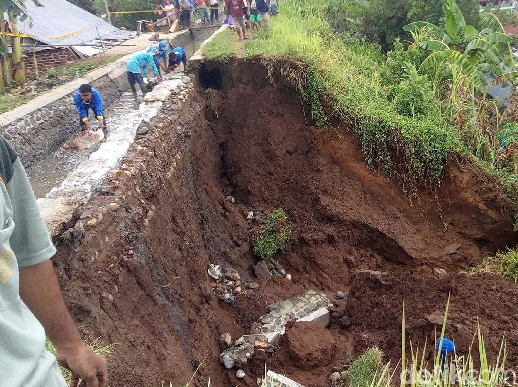 Tanggul Jebol yangTewaskan 1 Orang di Banjarnegara Masih Berpotensi Longsor