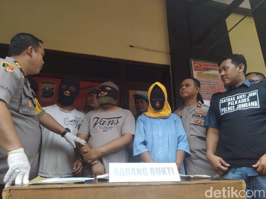 3 Penjudi di Pilkades Jombang Diringkus, Ibu Rumah Tangga Jadi Bandar