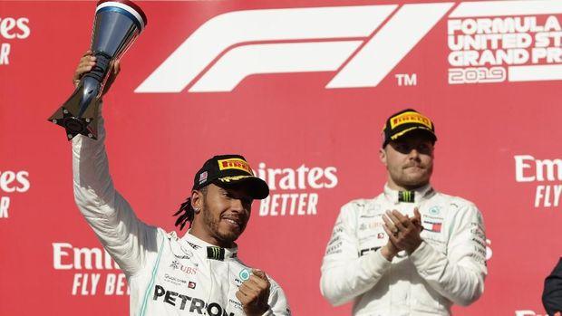 Lewis Hamilton memastikan juara dunia F1 2019. (