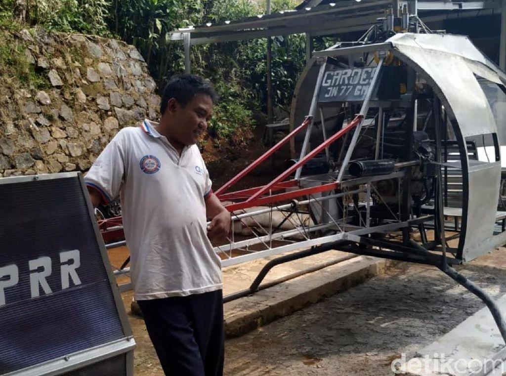 Bosan Macet, Alasan Tukang Bubut Asal Sukabumi Bikin Helikopter