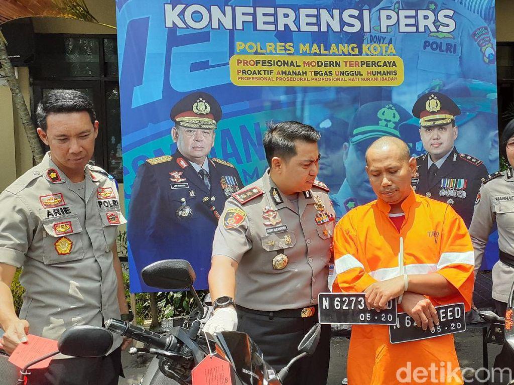 Terekam CCTV, Pelaku Curanmor Online 10 TKP Akhirnya Dibekuk