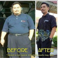 Sebelum dan sesudah Norazman menurunkan berat badan