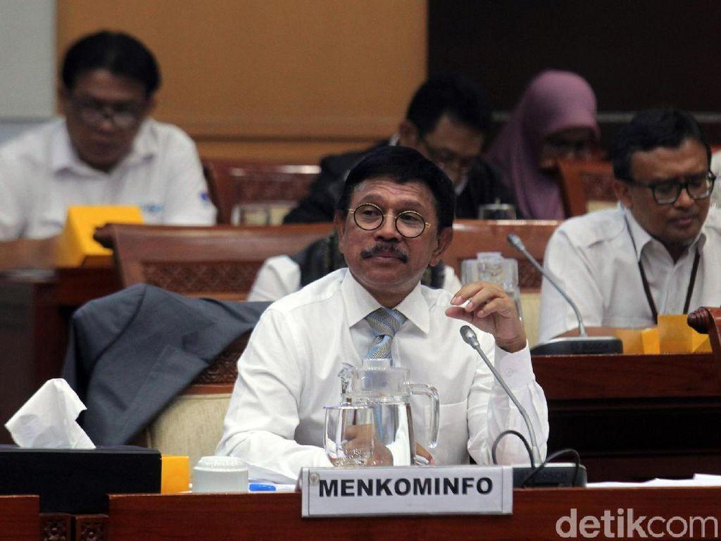Rapat Perdana Menkominfo Johnny G Plate dengan Komisi I DPR