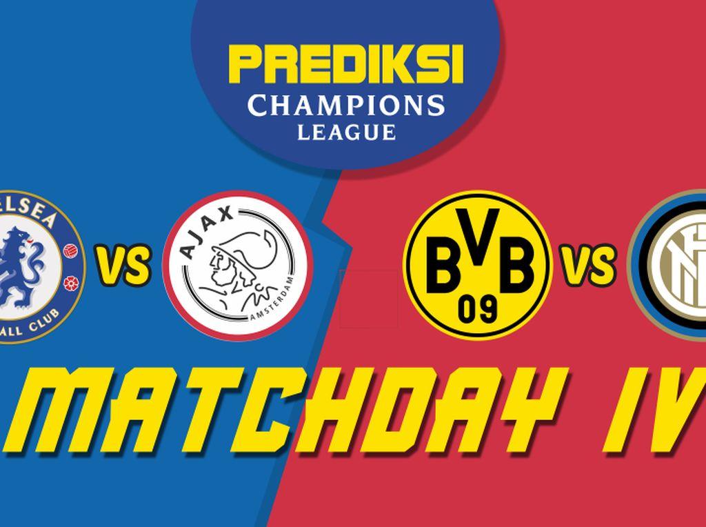 PSSI: Prediksi Chelsea Vs Ajax dan Dortmund Vs Inter Milan