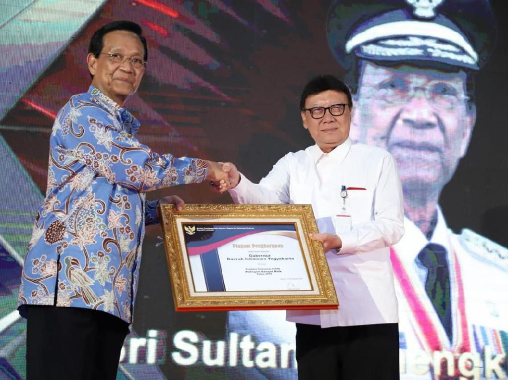 Kata Sultan HB X Usai Terima Penghargaan dari KemenPAN-RB