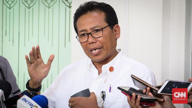 Staf Khusus Presiden Bidang Komunikasi Fadjroel Rahman di Kompleks Istana Kepresidenan Jakarta, Selasa (5/11).