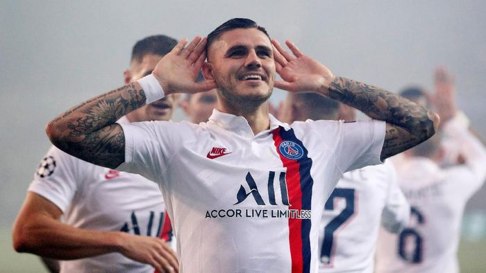 Mauro Icardi ingin terus bertahan di PSG. (Francois Lenoir/Reuters)