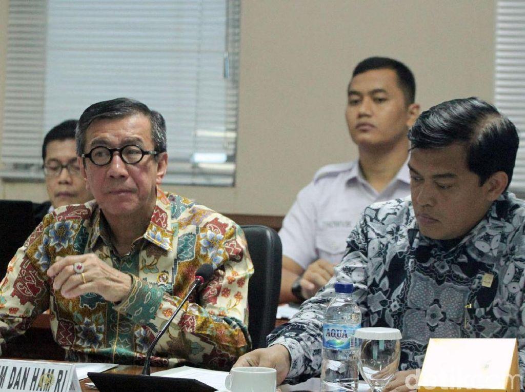 Menkumham Yasonna Laoly Rapat Bareng DPD RI