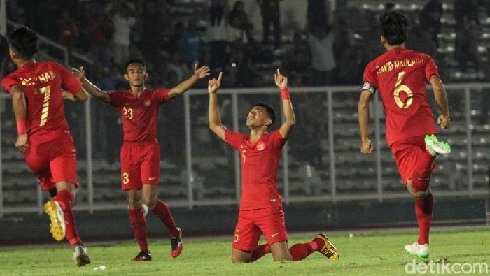 Timnas Indonesia memimpin klasemen Grup K Kualifikasi Piala Asia U-19 2020 usai menang 3-1 atas Timor Leste. (Foto: Rifkianto Nugroho/detikSport)