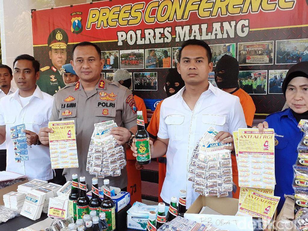 Pembuat Obat Ilegal di Malang Diamankan, Ratusan Jenis Produknya Disita