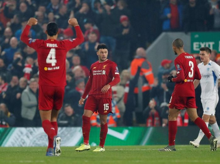 Liverpool memuncaki Grup E Klasemen Liga Champions 2019/2020. (Foto: Action Images via Reuters/Lee Smith)