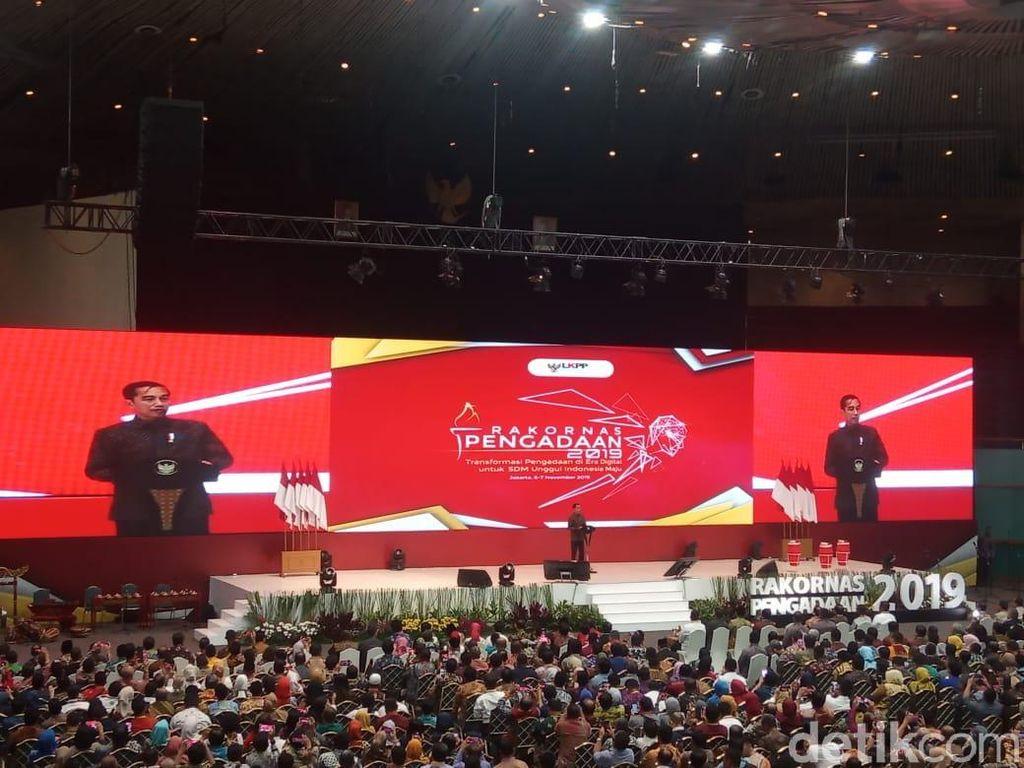 Buka Rakornas Pengadaan, Jokowi: Produk Lokal Harus Diserap!