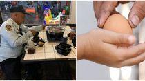 Bikin Haru! Hanya Makan Telur Rebus, Satpam Tua Ini Ditraktir Shabu-shabu