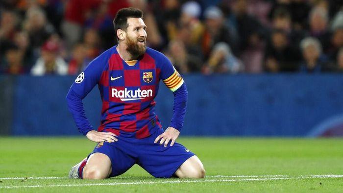 Lionel Messi gagal mencetak gol di dua laga kandang Barcelona beruntun di Liga Champions. (Foto: Joan Monfort / AP Photo)