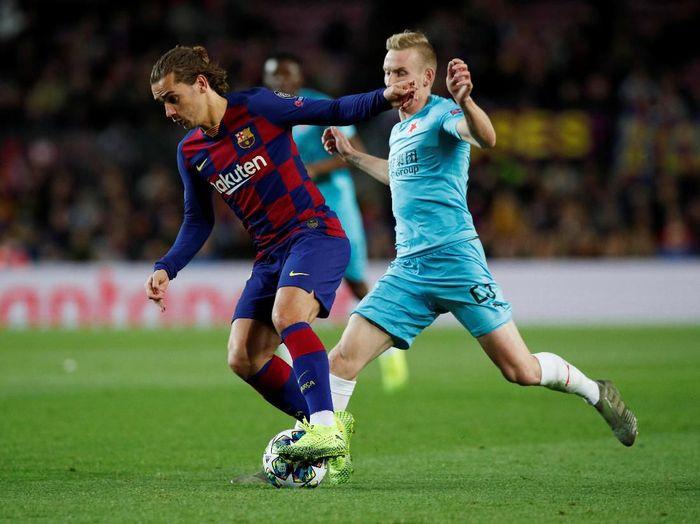 Barcelona diredam Slavia Praha tanpa gol di Camp Nou (REUTERS/Albert Gea)