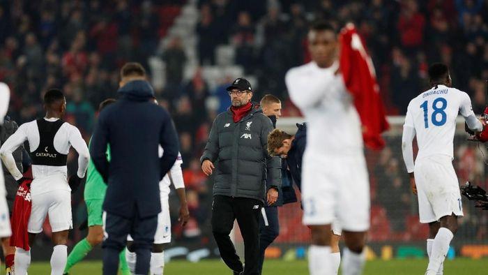 Juergen Klopp senang Liverpool menang meski tampil biasa-biasa saja (Action Images via Reuters/Lee Smith)