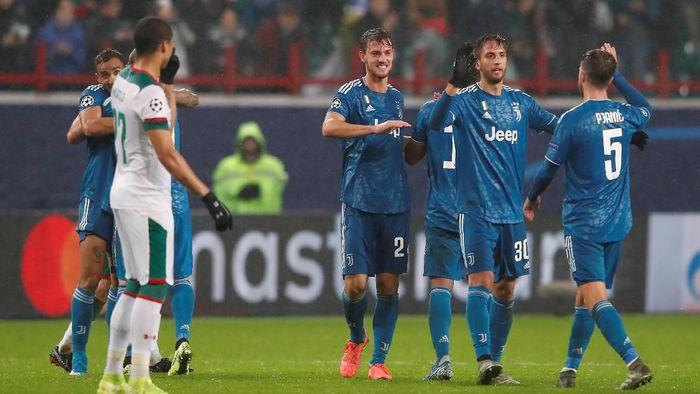 Juventus memastikan lolos ke babak 16 besar Liga Champions usai mengatasi Lokomotiv Moskow. (Foto: Maxim Shemetov/REUTERS)