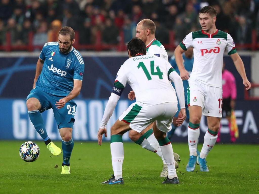 Lokomotiv Vs Juventus Berakhir 1-1 di Babak Pertama
