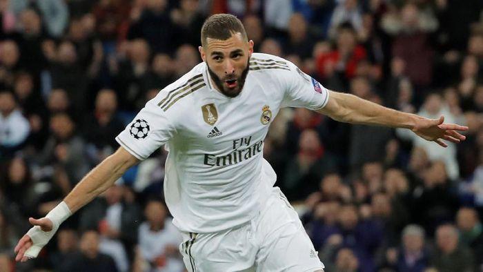 Karim Benzema melewati gol legenda Real Madrid Alfredo di Stefano di kompetisi Eropa. (Foto: Susana Vera / Reuters)