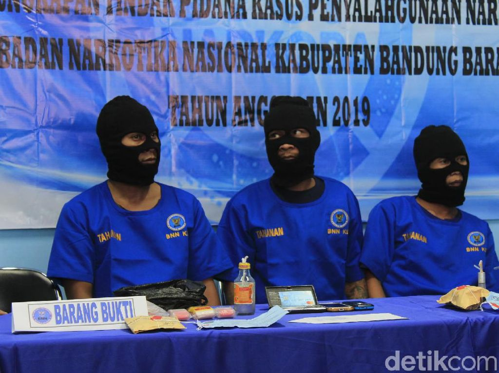 BNN Bandung Barat Ringkus 3 Kurir Sabu Jaringan Lapas