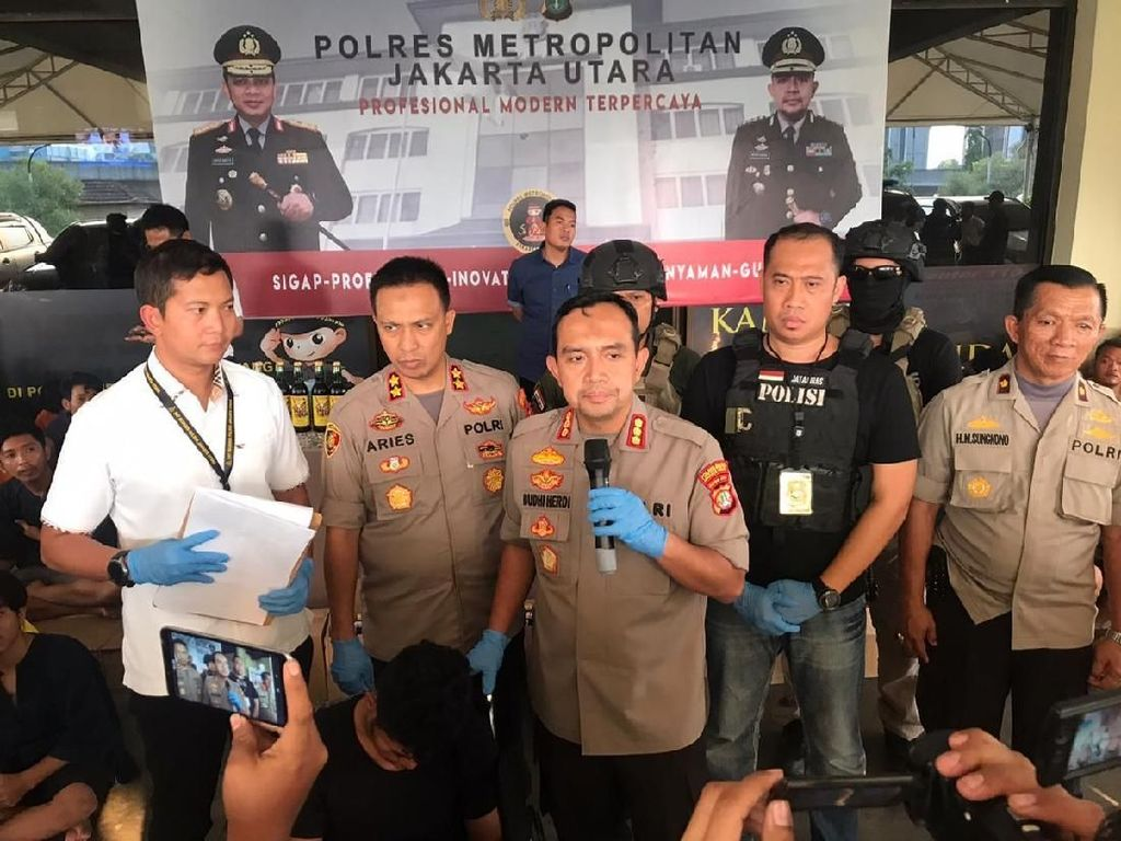 Operasi Berantas Premanisme, Polres Jakut Amankan 145 Orang
